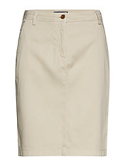O2. MODERN CHINO SKIRT - PUTTY