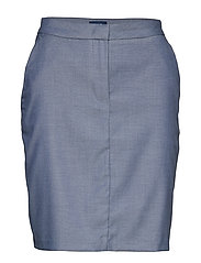 D1. CHAMBRAY SKIRT - PERSIAN BLUE