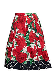 O1. PLEATED ROSE SKIRT - ALL OVER PRINT