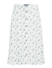 D1. Button Down A-Line Skirt Blus Ärmlös Vit GANT