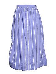 D2. STRIPED SHIRT SKIRT - PERIWINKLE BLUE