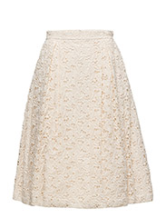 E. THE MACRAME LACE SKIRT - CREAM