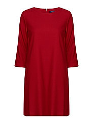 O1.WASHABLE FLANNEL DRESS - RED