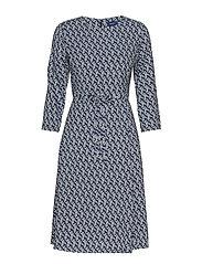 D1. AUTUMN PRINT DRESS - CRISP BLUE