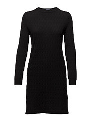 OP1. MINI CABLE DRESS - BLACK