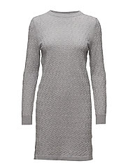 OP1. MINI CABLE DRESS - LIGHT GREY MELANGE