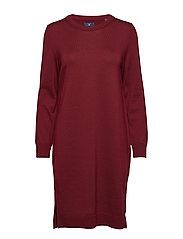 D1. MERINO WOOL DRESS - WINTER WINE