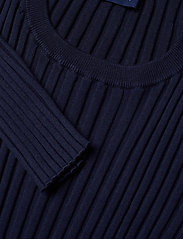 Gant - D1. RIB KNITTED DRESS - midimekot - evening blue - 2