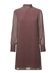 O2. PAISLEY SILK DRESS - PURPLE WINE