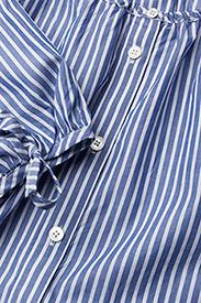 Gant - O1. PREPPY STRIPED SHIRT DRESS - paitamekot - college blue - 2