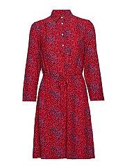 O2. SNOWDROP SPREAD SHIRT DRESS - RED