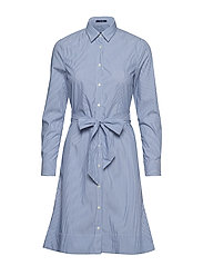 O1. TP FINE STRIPED SHIRT DRESS - NAUTICAL BLUE