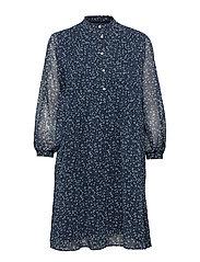 O1. PRINTED CHIFFON DRESS