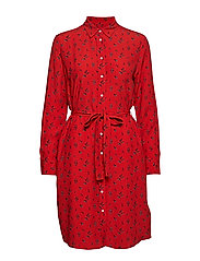 D1. BREEZY HARVEST SHIRT DRESS - BLOOD ORANGE