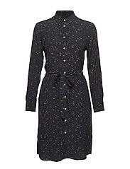D1. BREEZY HARVEST SHIRT DRESS - MARINE