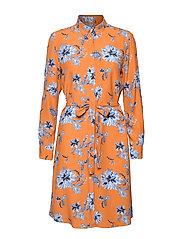 D1. MARINE PAISLEY SHIRT DRESS - AMBERGLOW