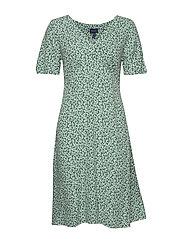 D2. SUMMER FLORAL DRESS - PEPPERMINT