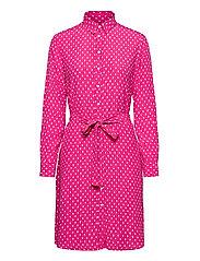 D1. DESERT JEWEL PRINT SHIRT DRESS - RICH PINK