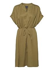 D1. FLUID DRESS - OLIVE GREEN