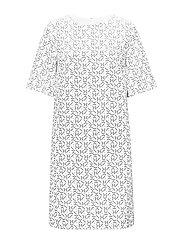 G1. PRINTED DRESS - EGGSHELL