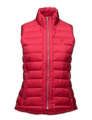 O1. LIGHT WEIGHT DOWN VEST - ROSE RED