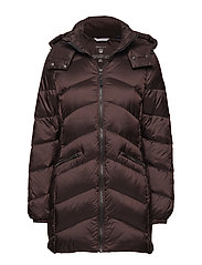 O2. CLASSIC LONG DOWN JACKET - BLACK COFFEE