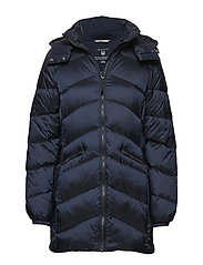 O2. CLASSIC LONG DOWN JACKET - NAVY