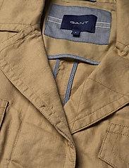 Gant - D2. BELTED FIELD JACKET - vestes legères - dark khaki - 3