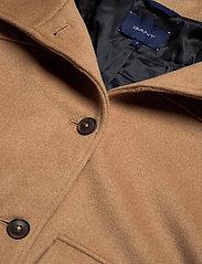 GANT - D1. WOOL BLEND CROPPED JACKET - wool jackets - warm khaki - 3