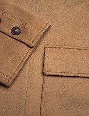 GANT - D1. WOOL BLEND CROPPED JACKET - wool jackets - warm khaki - 4