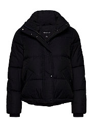 D2. JACQUARD GANT WORD DOWN JACKET - EVENING BLUE