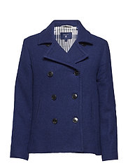 O1. WOOL PEA COAT - PERSIAN BLUE