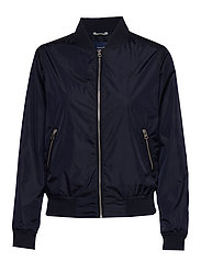 D1. AIRY NYLON BOMBER - EVENING BLUE