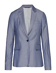 D1. WASHABLE CHAMBRAY BLAZER - PERSIAN BLUE
