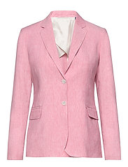 D2. STRETCH LINEN REGULAR BLAZER - RAPTURE ROSE