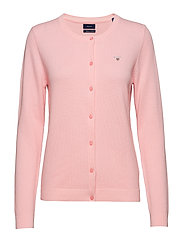COTTON PIQUE CARDIGAN - CALIFORNIA PINK