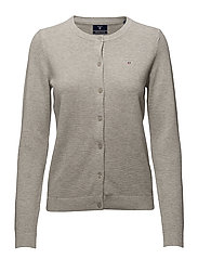COTTON PIQUE CARDIGAN - LIGHT GREY MELANGE