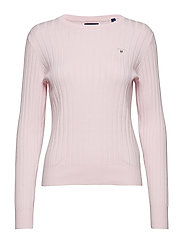 D1. STRETCH COTTON RIB CREW - LIGHT PINK