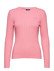 D1. STRETCH COTTON RIB CREW - PINK EMBRACE