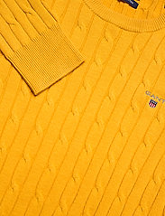 GANT - STRETCH COTTON CABLE C-NECK - jumpers - ivy gold - 2