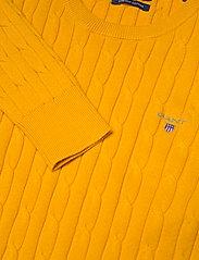 GANT - STRETCH COTTON CABLE C-NECK - džemperi - medallion yellow - 2