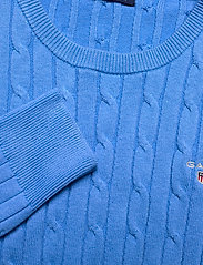 GANT - STRETCH COTTON CABLE C-NECK - jumpers - pacific blue - 2
