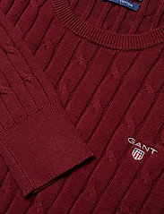 GANT - STRETCH COTTON CABLE C-NECK - jumpers - port red - 2