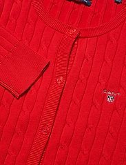 STRETCH COTTON CABLE CREW CARDIGAN