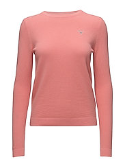 COTTON PIQUE CREW - STRAWBERRY PINK