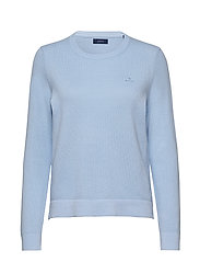 COTTON PIQUE C-NECK - HAMPTONS BLUE