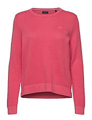 COTTON PIQUE C-NECK - RAPTURE ROSE