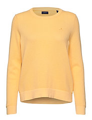 COTTON PIQUE C-NECK - SUNLIGHT