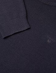 Gant - LT WEIGHT COTTON CREW NECK - neulepuserot - evening blue - 2