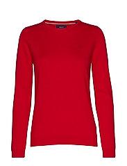 LT WEIGHT COTTON CREW NECK - RED